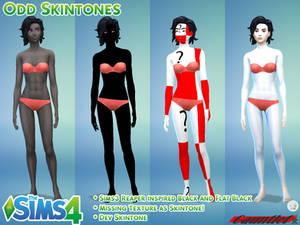 Sims4 Odd Skintones