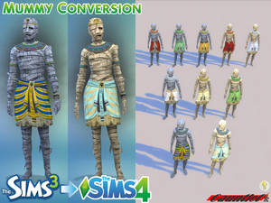 Sims3 to Sims4 Mummy Conversion