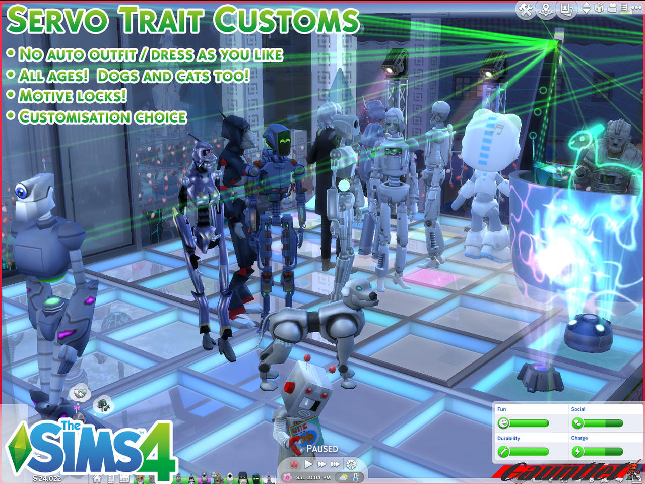 Sims4 Servo Trait Customs By Gauntlet101010 On Deviantart