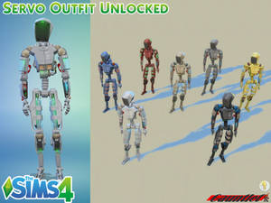 Sims4 Servo Outfit Unlocked