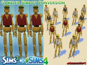 Sims3 to Sims4 Gambler Simbot Conversion