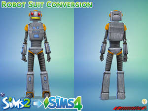 Sims2 Console to Sims4 Robot Suit Conversion