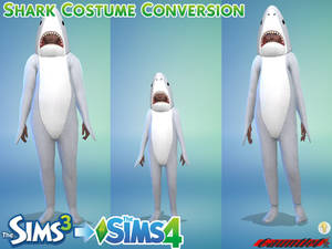 Sims3 to Sims4 Shark Costume Conversion