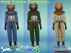 Sims2 to Sims4 Diver Mascot Conversion