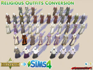 Sims Medieval to Sims4 Religious Outfit Conversion