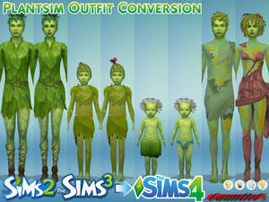 Sims 2 and 3 to Sims4 Plantsim Outfit Conversion
