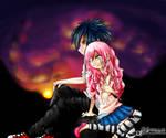 Sasuke and Sakura - Sunset