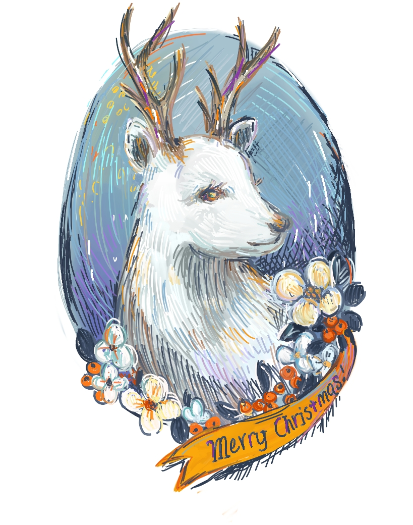 the white reindeer by lavender-lemonade