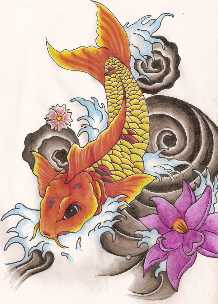 Koi fish and lotus flower tattoo designslotus tattoo meaning 55 koi tattoo design by soldadoporvida on deviantart mightylinksfo