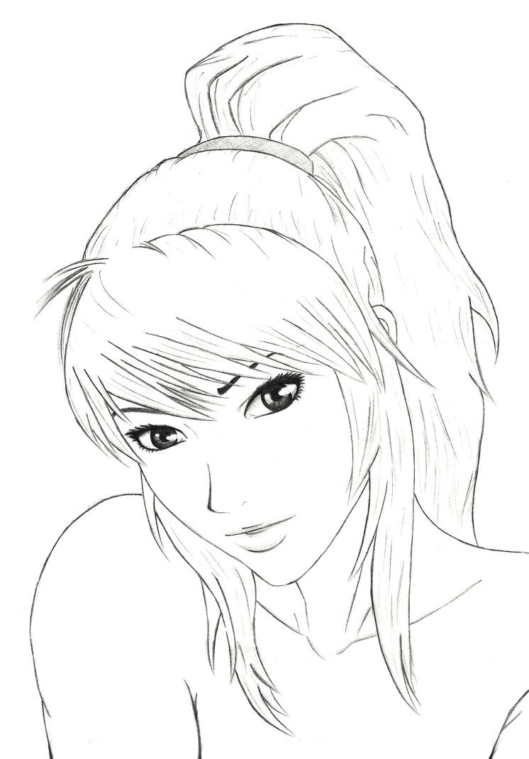 pretty girl face coloring pages - photo#11