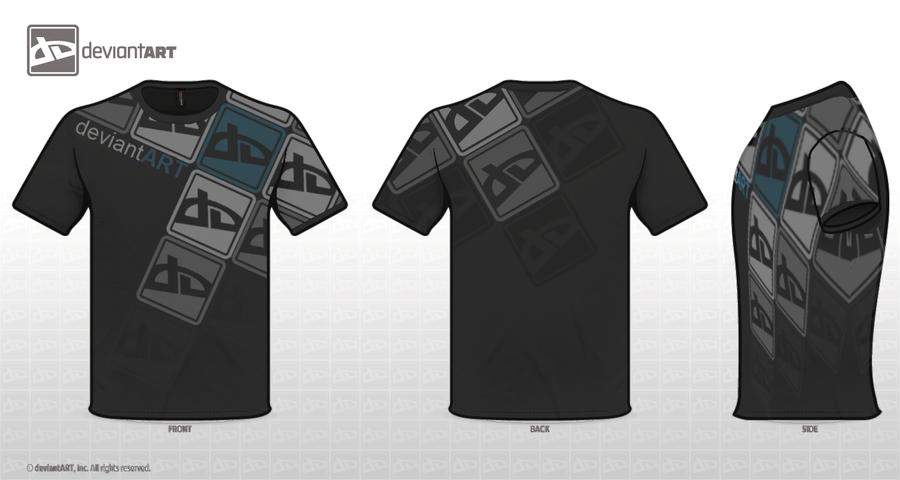 DA Logo Slant T-Shirt by Drovinth