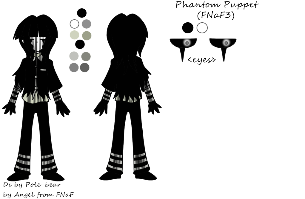 Phantom Puppet mini reference(FNaF3) by One-hell-bunny on