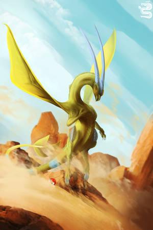 Shiny Flygon by AshesDrawn
