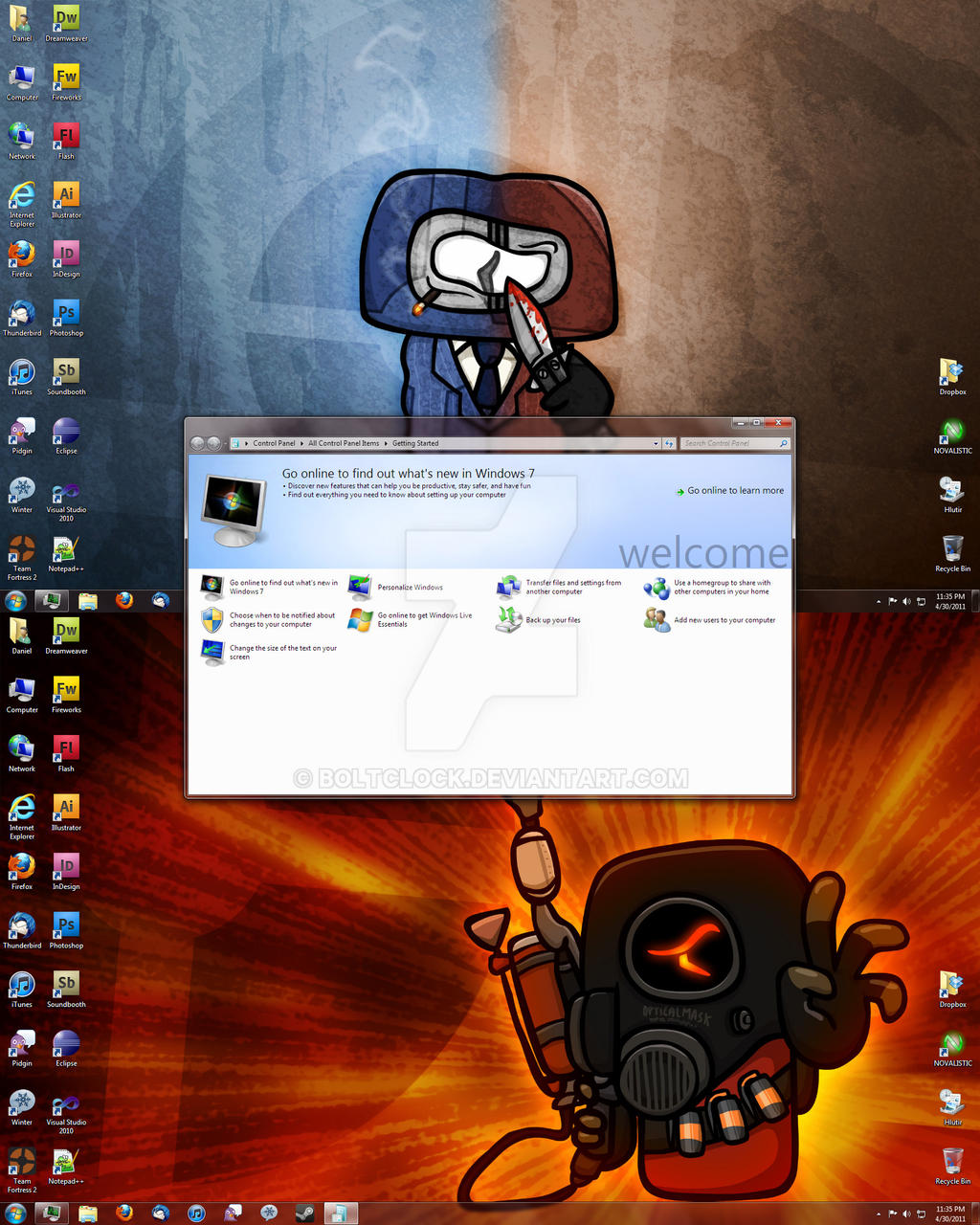 Windows 7 Desktop, 2011-04-30 by BoltClock