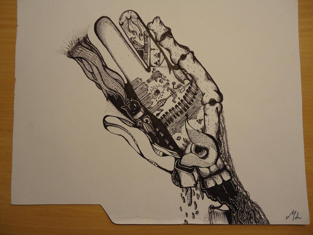 Hand, Made out of anything I could think of by mattloweart