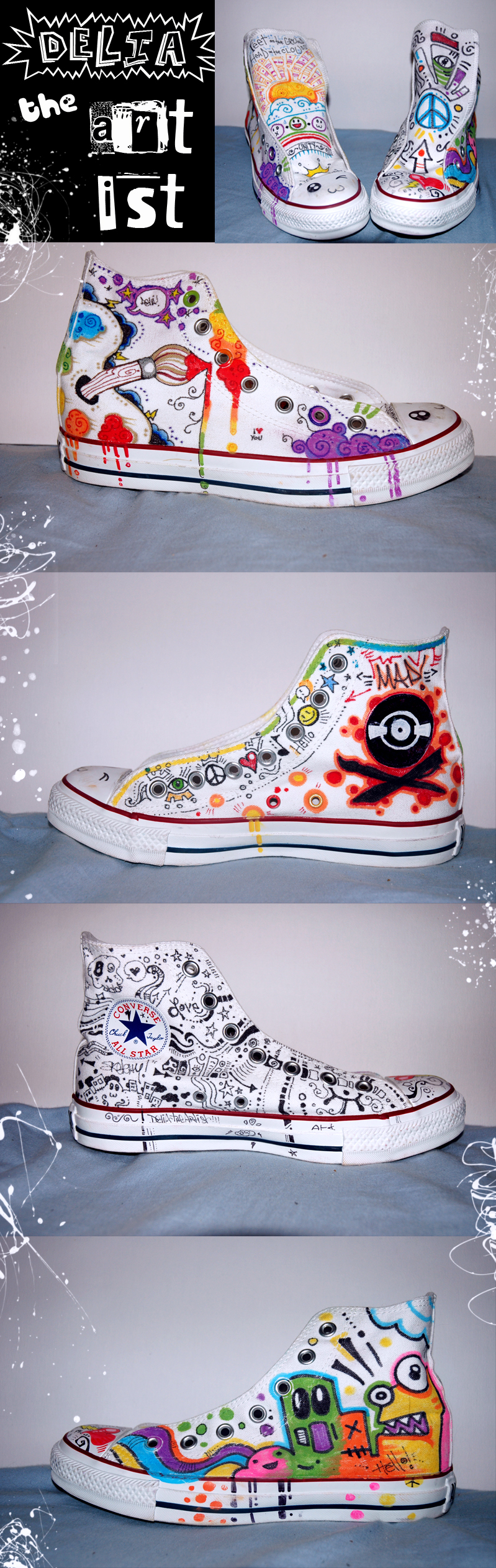 Cool Converse by DeliaTheArtist