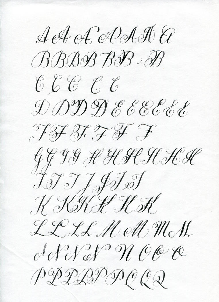 Copperplate Capitals 1 By Kojo2047