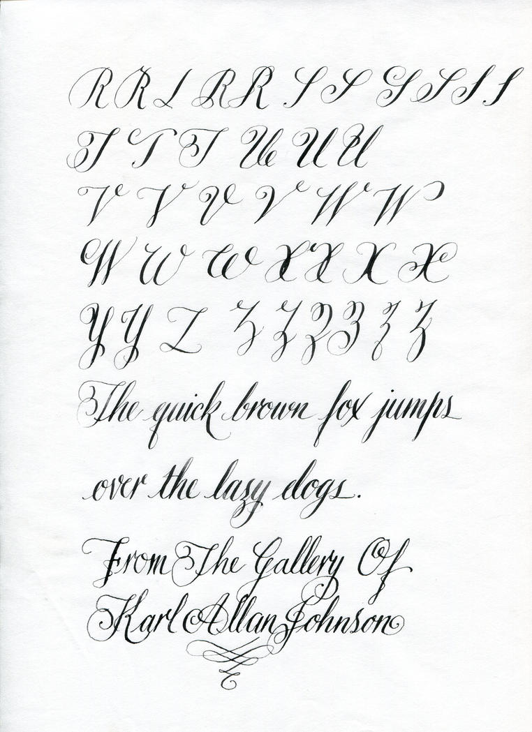 Copperplate Capitals 2 By Kojo2047