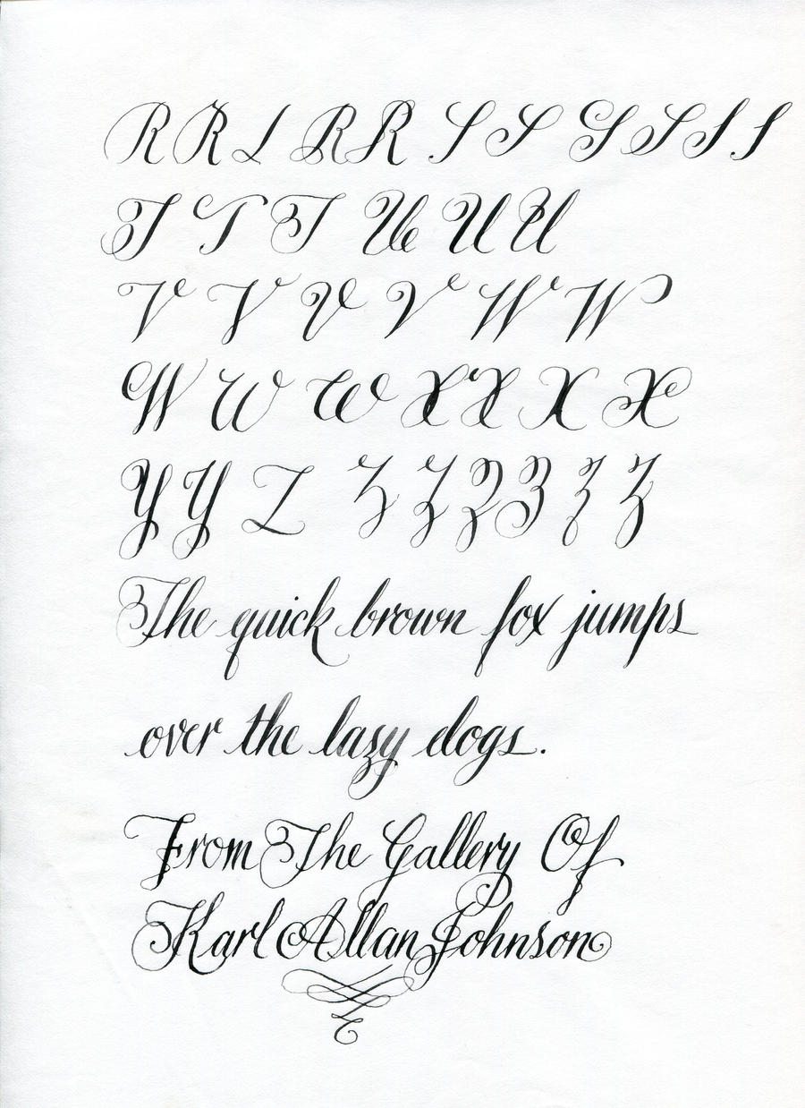 copperplate writing alphabets