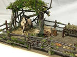 Whimsical Schleich horse paddock