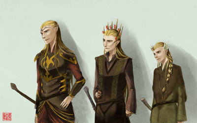the mirkwood family ba da da dum snap snap. by esquitor
