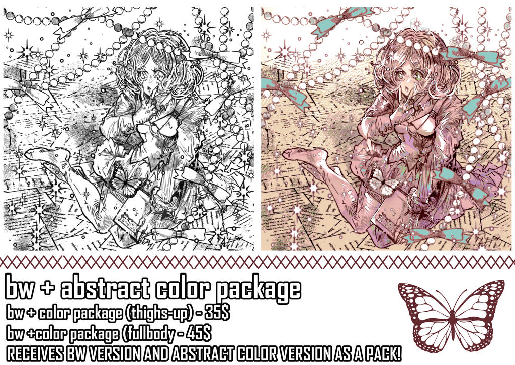 NEW VERSION BW+COLOR PACKAGE [OPEN FOR TWO SLOTS]