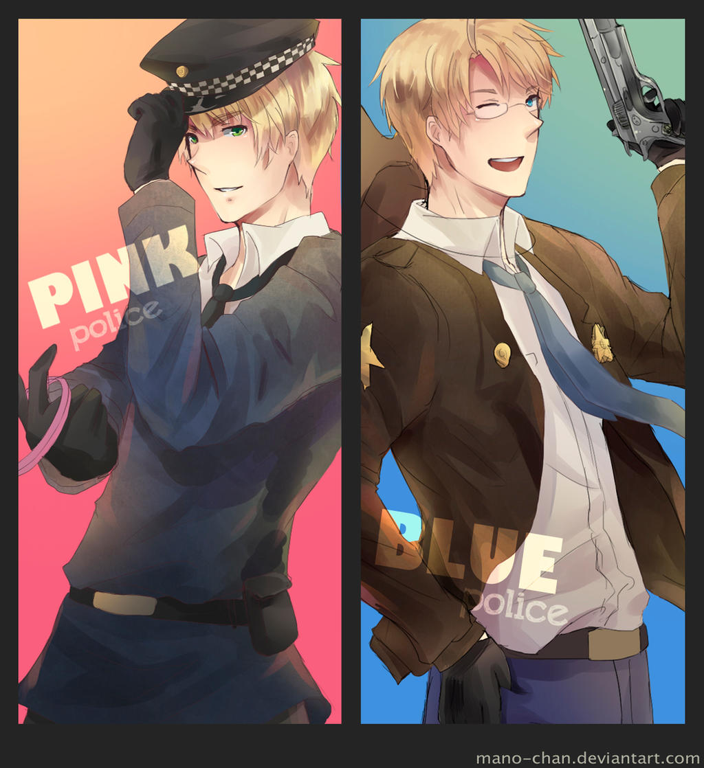 APH - Blue and Pink Police by Mano-chan