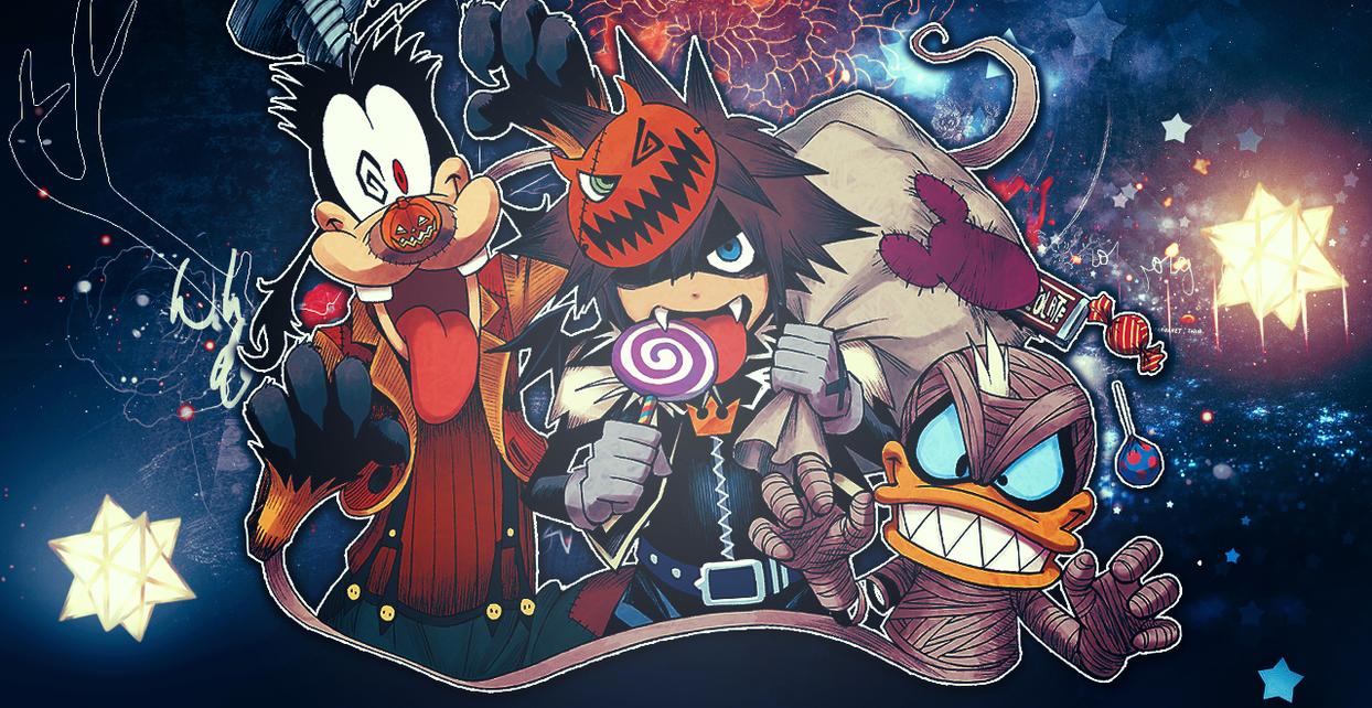Halloween Town - Sora Donald Goofy Header by criticaldrive on ...