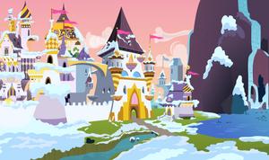 Snowy Canterlot Castle by EmberFiremane