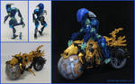 Bionicle MOC: Perseid and the Coruscant by Rahiden