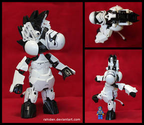 Bionicle MOC: Zeebo the Zebra by Rahiden