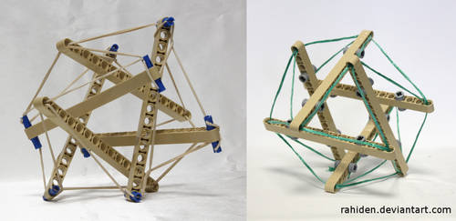 Bionicle MOC: Tensegrity Sculpture