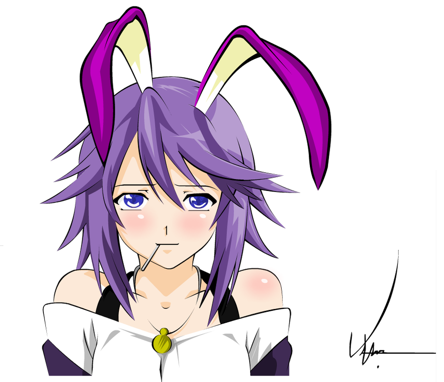 Anime girl with bunny ears