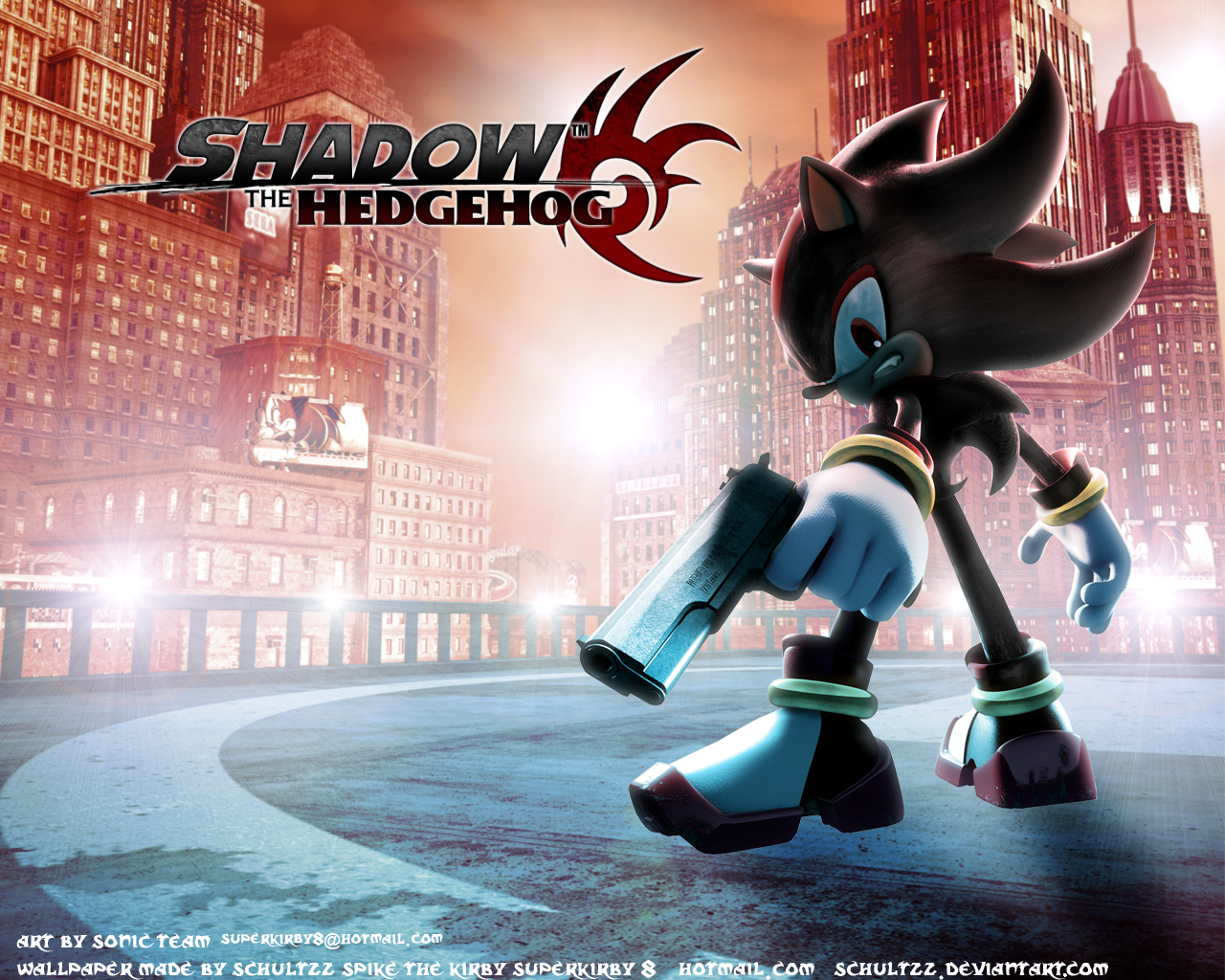 shadow the hedgehog wallpaper by schultzz on DeviantArt