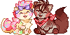 Millie and Farley Pixels by skullcaps