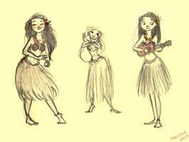 Hawaii Girls by marlenakate