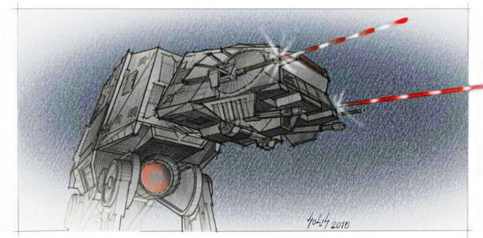 AT-AT attack by GSS