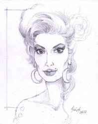 Amy Winehouse Sketch by GuSS