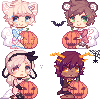 Halloween Icons Batch by cloudylicious