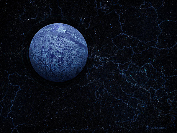 Planet - Paris by vladstudio