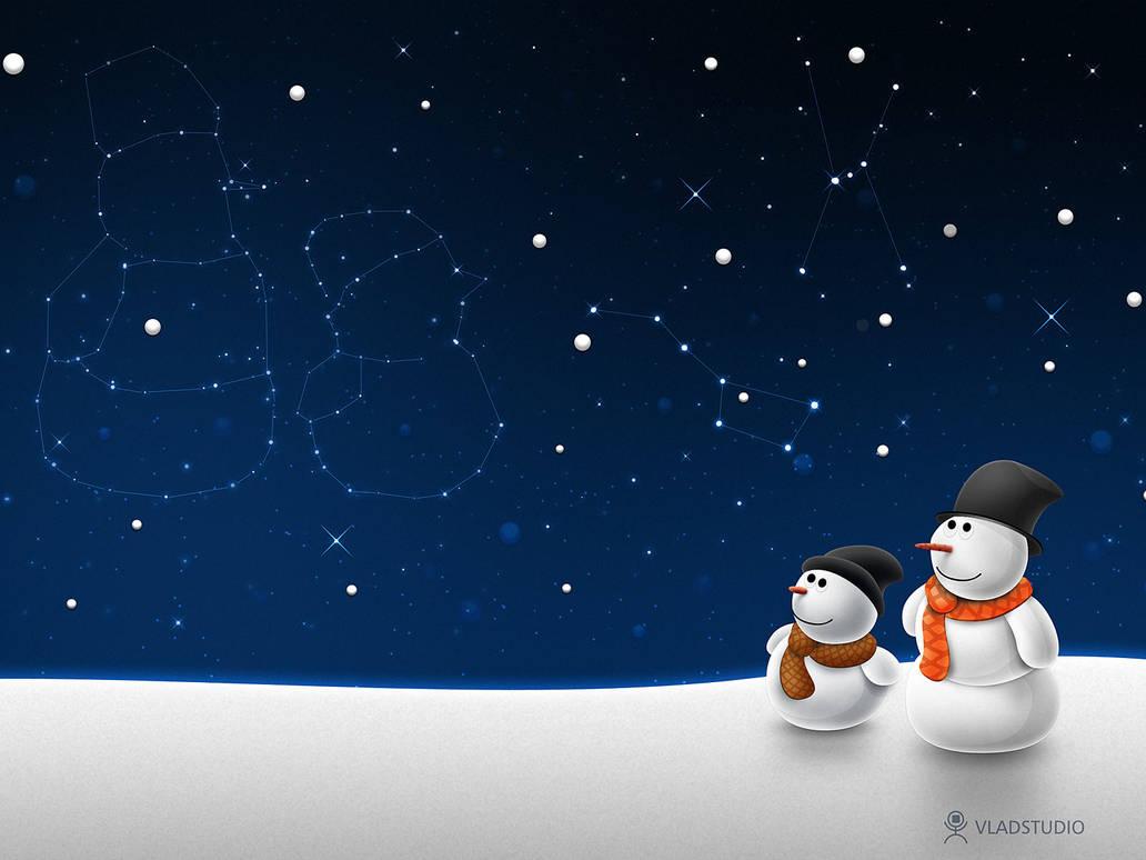 Snow man snow child by vladstudio