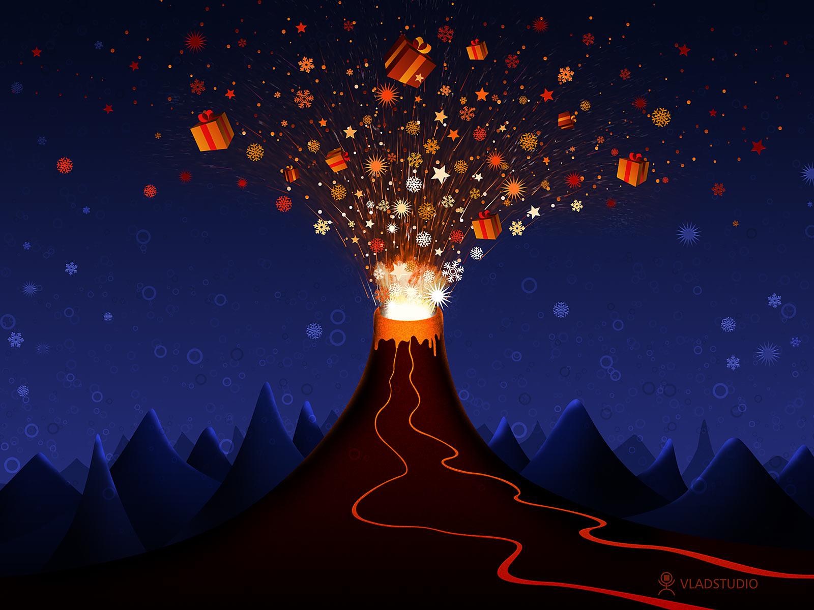 Christmas volcano by vladstudio on deviantart for Cool christmas art