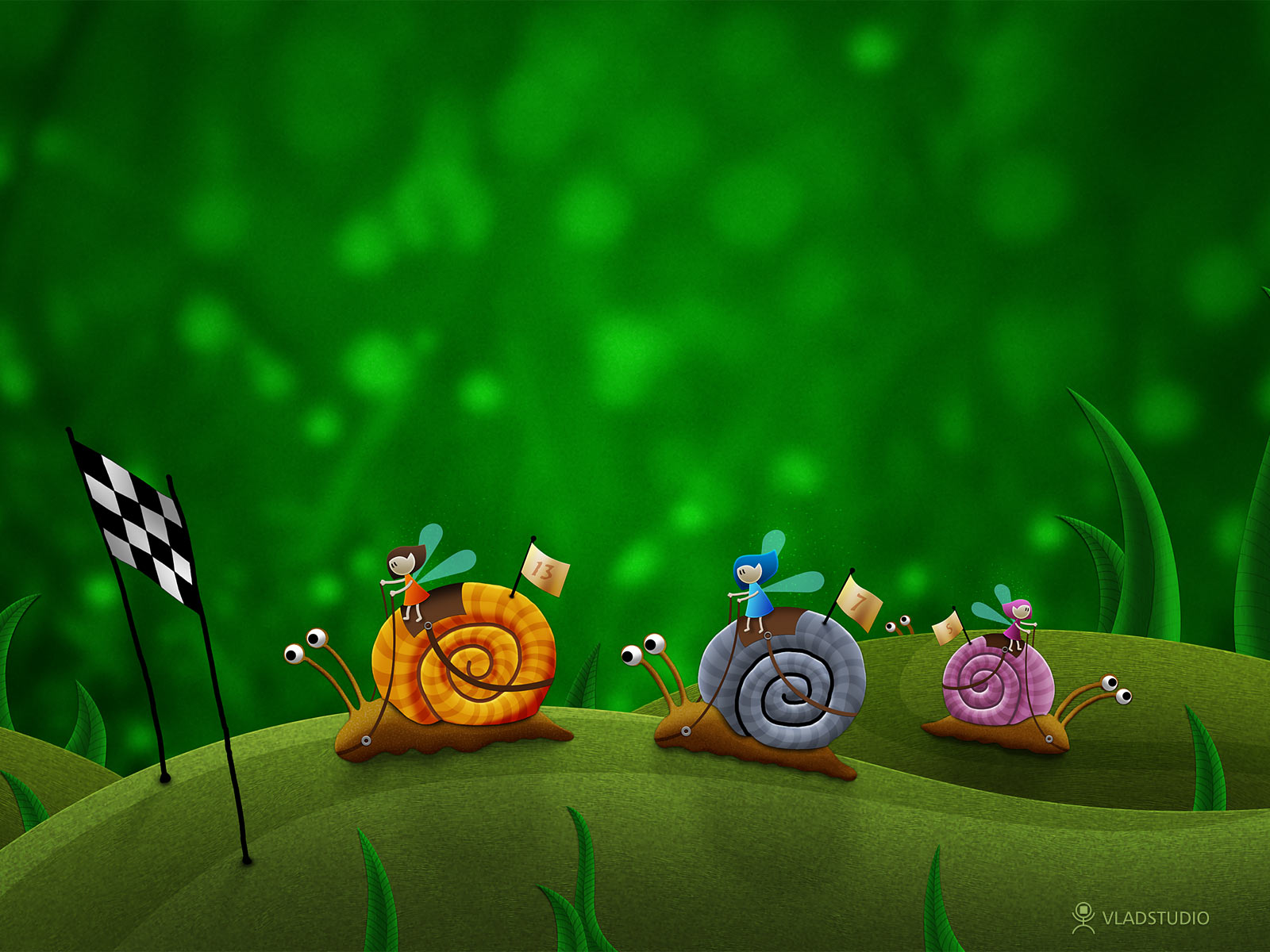 Snail Racing by vladstudio