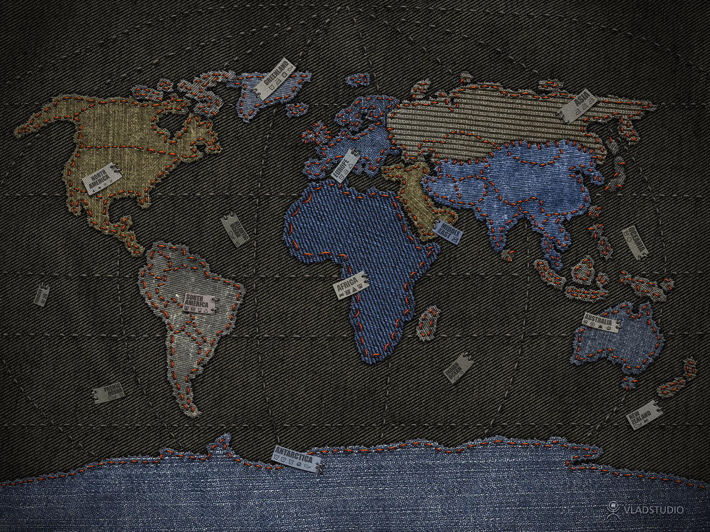 Jeans world map by vladstudio on deviantart jeans world map by vladstudio gumiabroncs Images