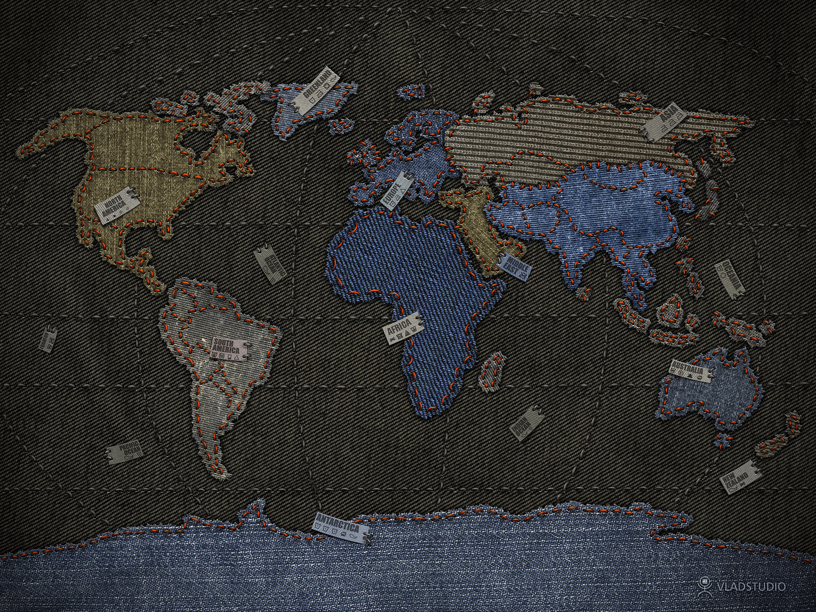 Jeans world map by vladstudio on deviantart gumiabroncs Images