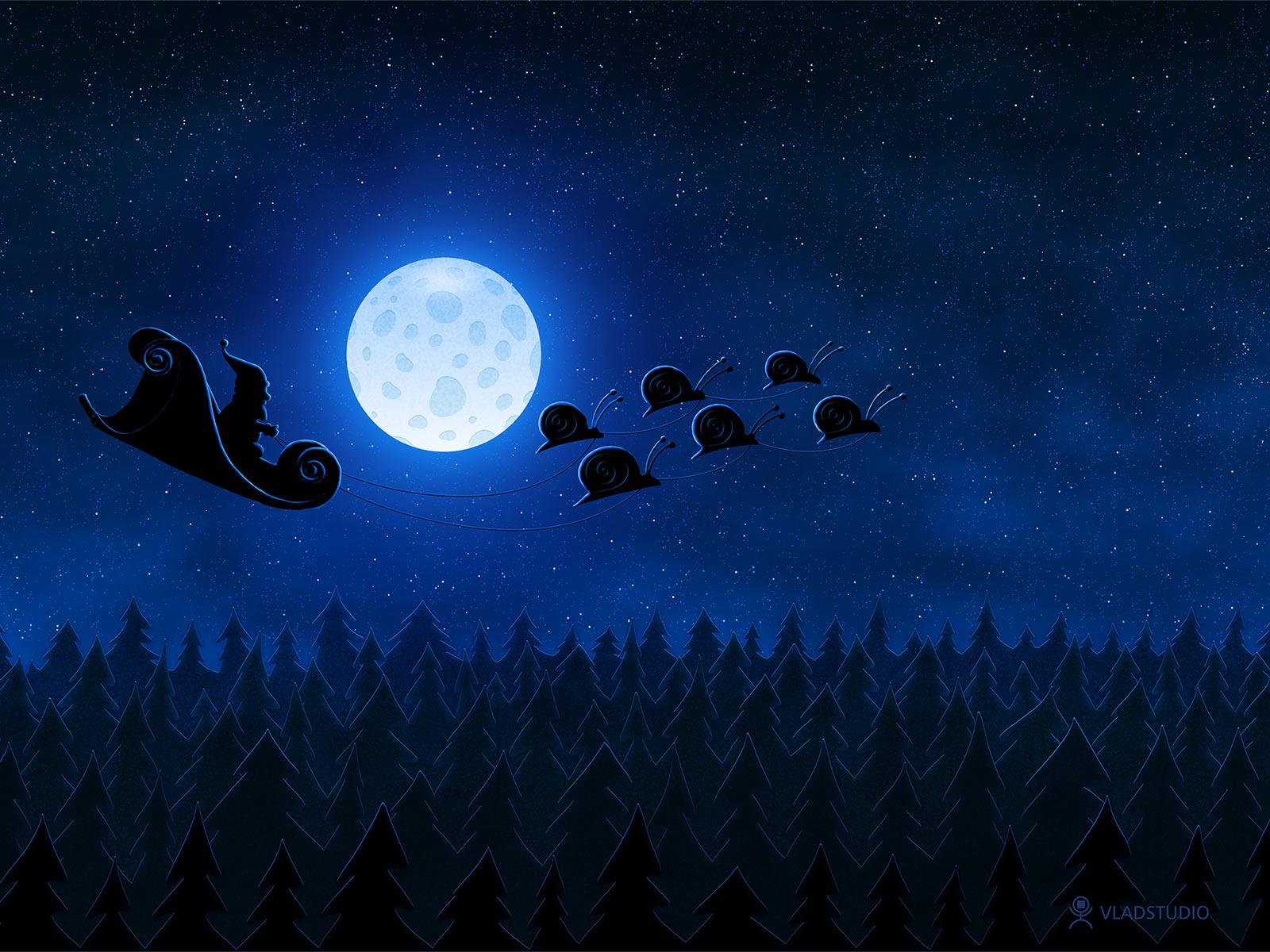 Christmas: Santa Flying 1