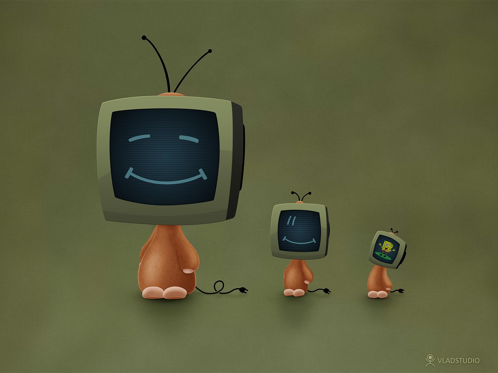 TV Heads by vladstudio