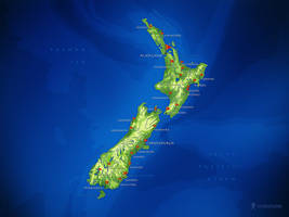 New Zealand Map by vladstudio