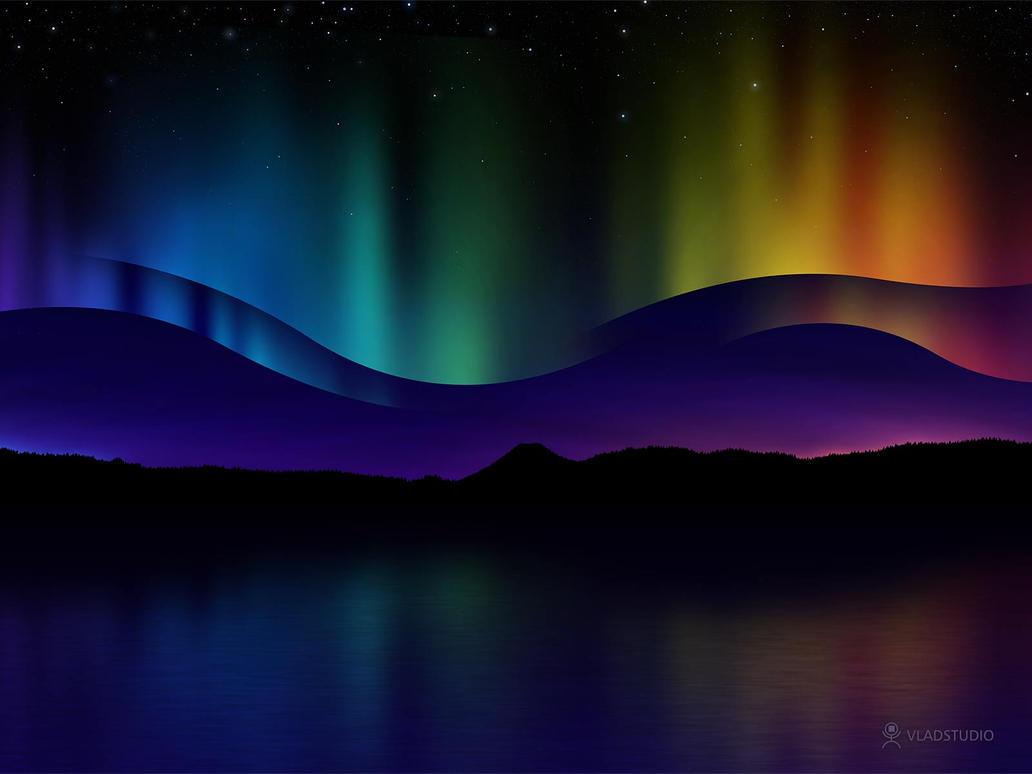 northern lights by vladstudio on deviantart