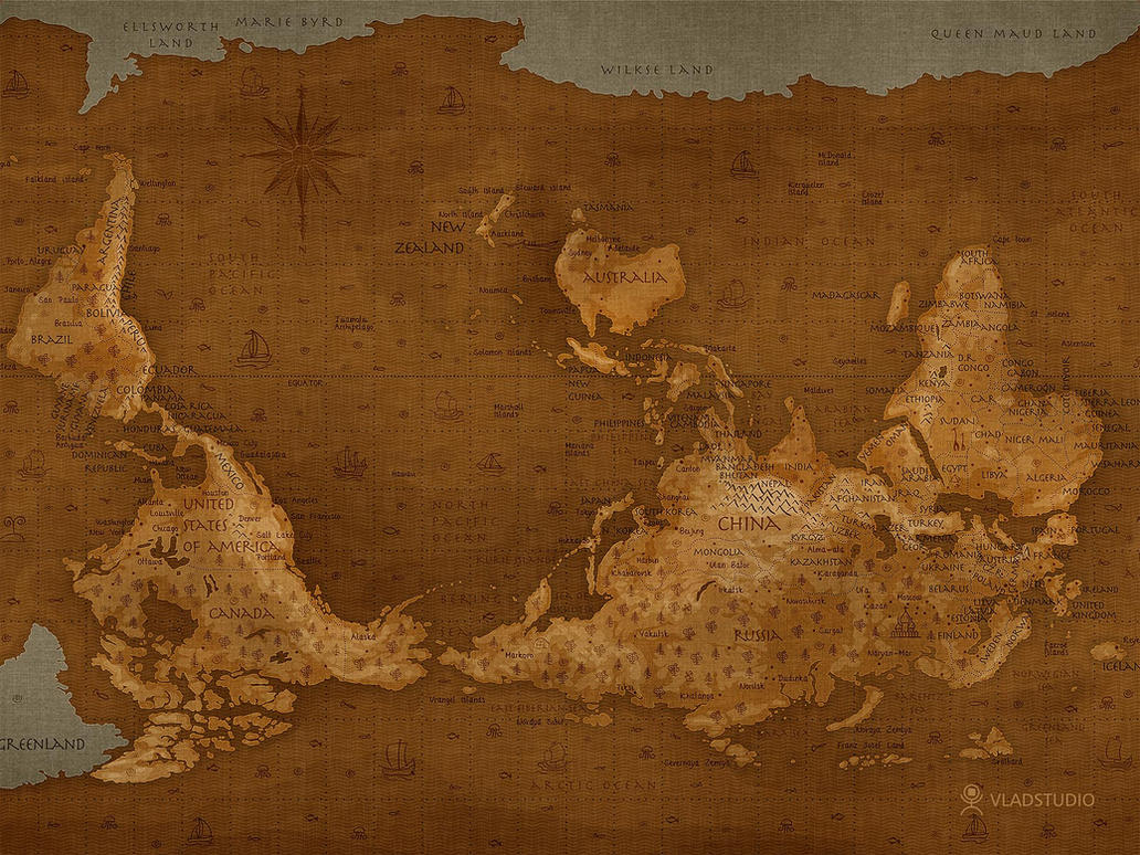 World map upside down by vladstudio on deviantart world map upside down by vladstudio gumiabroncs Image collections